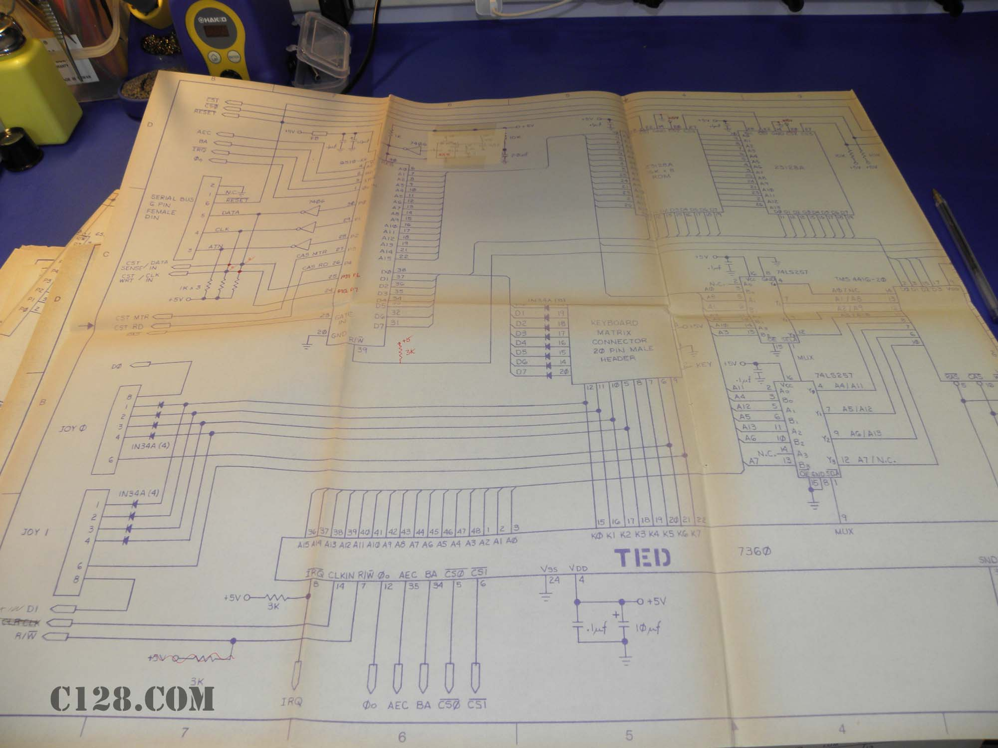 Ted Drawings From The 1980s 555 Circuitjpg Cb Commodore C116 C264 Plus 4 Bil Herd