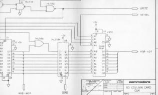Commodore C-64 80 Column Adapter